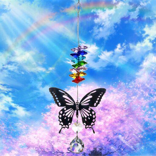2650 k6gjbp 510x510 - H&D 20mm/38mm Handmade Butterfly Crystal Ball Prism Rainbow Maker Hanging Suncatcher Ornament - garden-supplies -