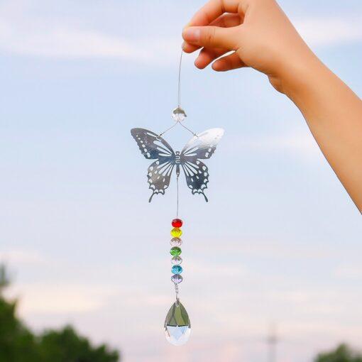 2650 sgt9pt 510x510 - H&D 20mm/38mm Handmade Butterfly Crystal Ball Prism Rainbow Maker Hanging Suncatcher Ornament - garden-supplies -