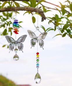 2650 xutcgj 247x296 - H&D 20mm/38mm Handmade Butterfly Crystal Ball Prism Rainbow Maker Hanging Suncatcher Ornament - garden-supplies -