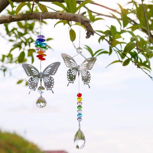 2650 xutcgj 510x510 - H&D 20mm/38mm Handmade Butterfly Crystal Ball Prism Rainbow Maker Hanging Suncatcher Ornament - garden-supplies -