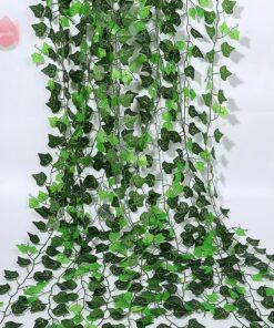 1Pcs 230Cm Green Vine Silk Artificial Hanging Leaf For Home Garden Decoration
