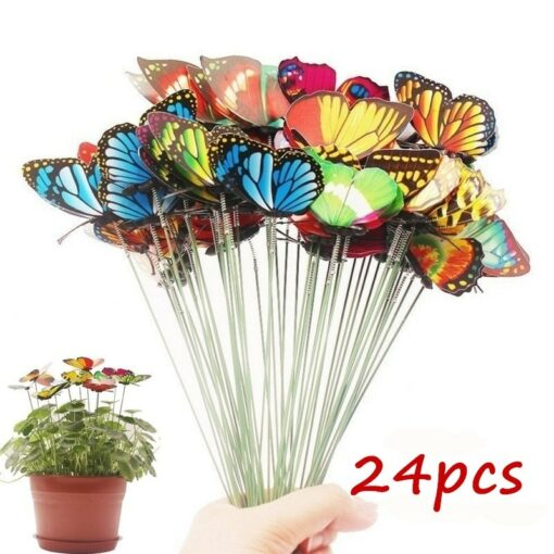Bunch of Colorful Butterflies Garden Yard Planter for Decoration
