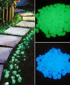 25/50pcs Glow in the Dark Garden Pebbles Glow Stones Rocks for Walkways Garden Path