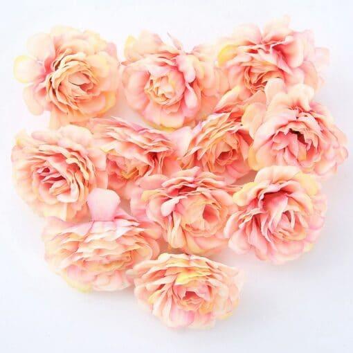 10pcs/lot Artificial Flowers 5CM Silk Rose Head For Home Garden Decorations