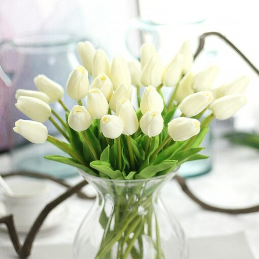 10PCS Artificial Flowers Garden Tulips for Home Decoration