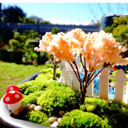 10Pcs 2cm Artificial Mini Mushroom Miniatures Fairy Garden
