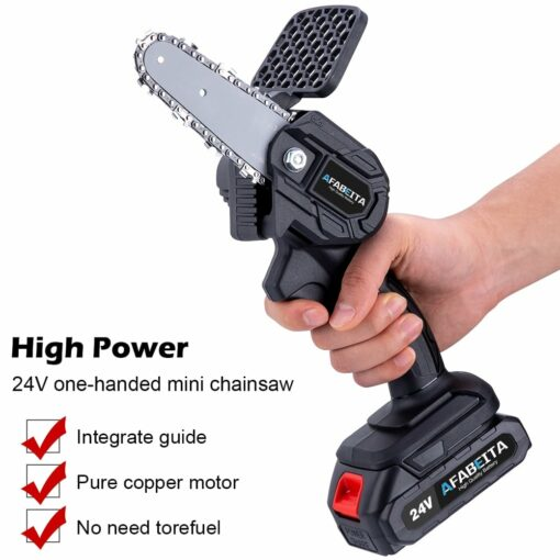 4/6 Inch 1200W Mini Pruning Saw Electric Chainsaws Removable For Garden Trimming