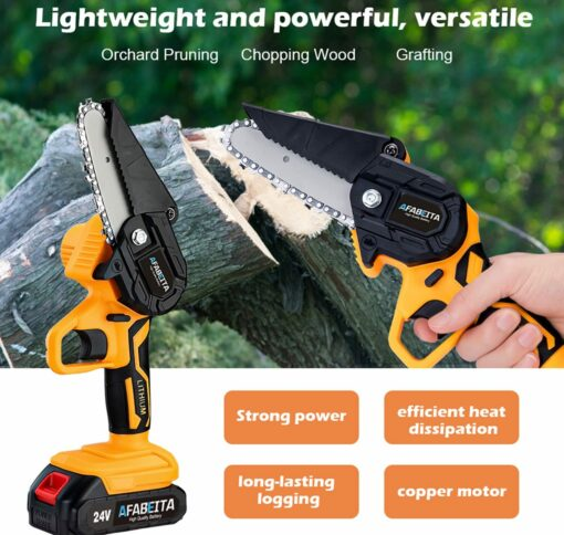 1200W 4in/6in Electric Portable Mini Saw Used For Garden Trimming (With Battery)